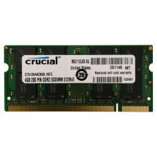 SODIMM Crucial 4GB DDR2 800 MHz (CT51264AC800.16FC)